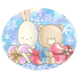 Cute bear and rabbit 4 by Torataro