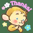 The cute monkey, HARU