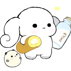 Milk Roll Bunny CHOUPOPO & Chouding