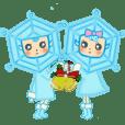Blue snowy fairies