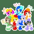 七色の妖精スタンプ