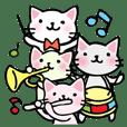 音楽を愛するネコ