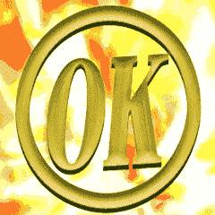 【金色】動く▶文字のスタンプ【ゴールド】