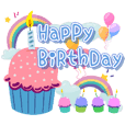 Happy Birthday With Best Wishes Sticker