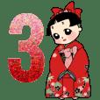 和柄おかっぱ少女 No.3