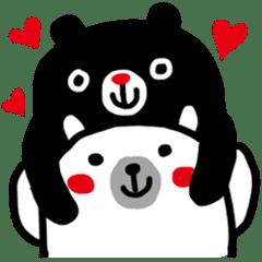 Black bear and White bear 2