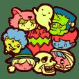 Halloween Freaks Sticker