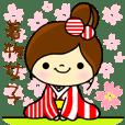kimono girls stickers