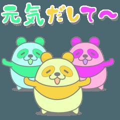 Moving pastel panda
