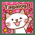 Tagalog cat!ภาษาตากาล็อก ฟิลิปปินส์ แมว