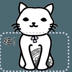 簡單 貓。禪繞 Zentangle