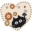 Sticker. black cat