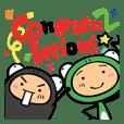 Frog family,Midori&Tachizawa