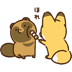 Raccoon dog & Fox: Fast-moving Stickers