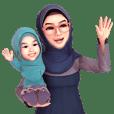 Yah StickerLine (Hijab)v.4 eng