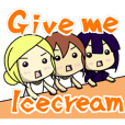 Girls to want to eat ice cream.(R ver)