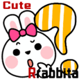 Cute Rabbita Simple Emotions Sticker
