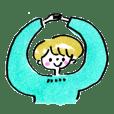 cotori cotori short hair girl's sticker2