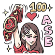 AsB - Comic Girls & 100 Love +