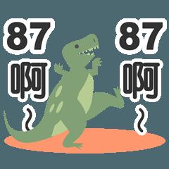 混乱したティラノサウルス