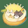 Shiro the rabbit & kuro the cat Part16
