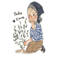 grandma in the garden