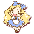 Alice of seal-style sticker