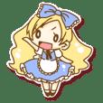 【平凡アリス】ぺたっとシール風スタンプ