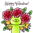 Sticker of St. Valentine's Day