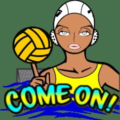 水球 女子 スタンプ