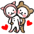 Hokaburi neko's love message sticker