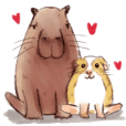 Capybara and Guinea pigs