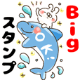 【BIGスタンプ】ねことうさぎの夏★