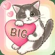 やさしい子猫のBIGスタンプ 日常&イベント
