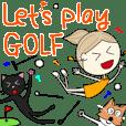 ゴルフの日常会話、挨拶をエカチェリーナが