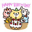 Birthday and celebrations stickers