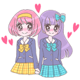 Best friend Momoka & Kanade