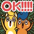 Tsupparisu & Shateinu Greeting sticker