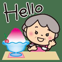 ばぁばの夏スタンプ❤️英語