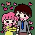 可愛い仲良しカップル