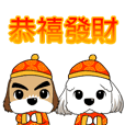 2 Shih Tzu Brothers~New Year's greetings