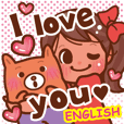 Girl and friends! English sticker