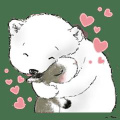 北極熊棉花球2-棉花球和小豆芽