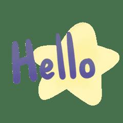 Purple Blue star word