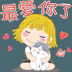 オレンジ(女の子)2と木木(猫)04-日常