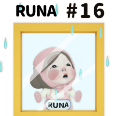Pink Towel #16 [runa_eu] Name Sticker