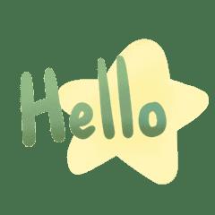 Dark Green star word