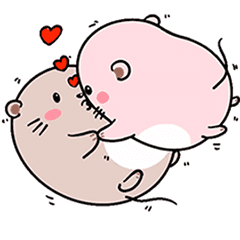 Daily life of cute fat mice