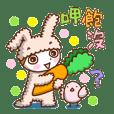 可愛的兔子的女孩子