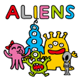Cheerful aliens